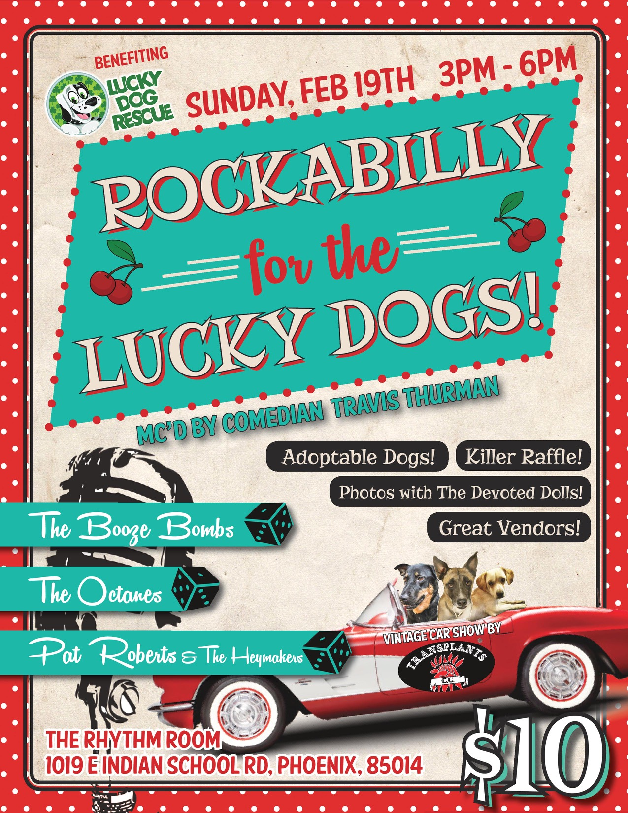 Lucky Dog Rescue - Rockabilly For The Lucky Dogs! @ The Rhythm Room | Phoenix | Arizona | United States