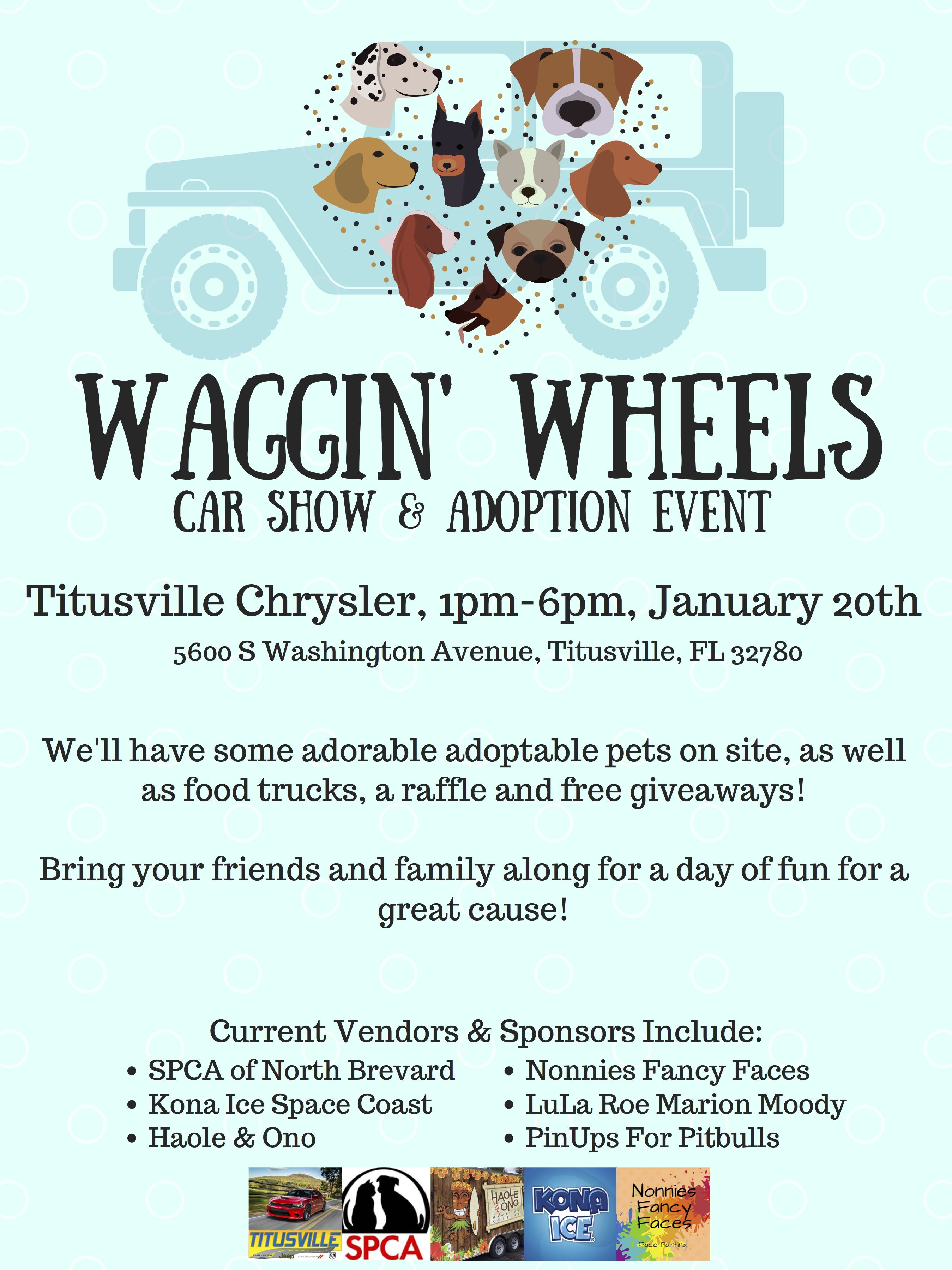 Waggin Tails Car Show And Adoption Fl Pinups For Pitbulls