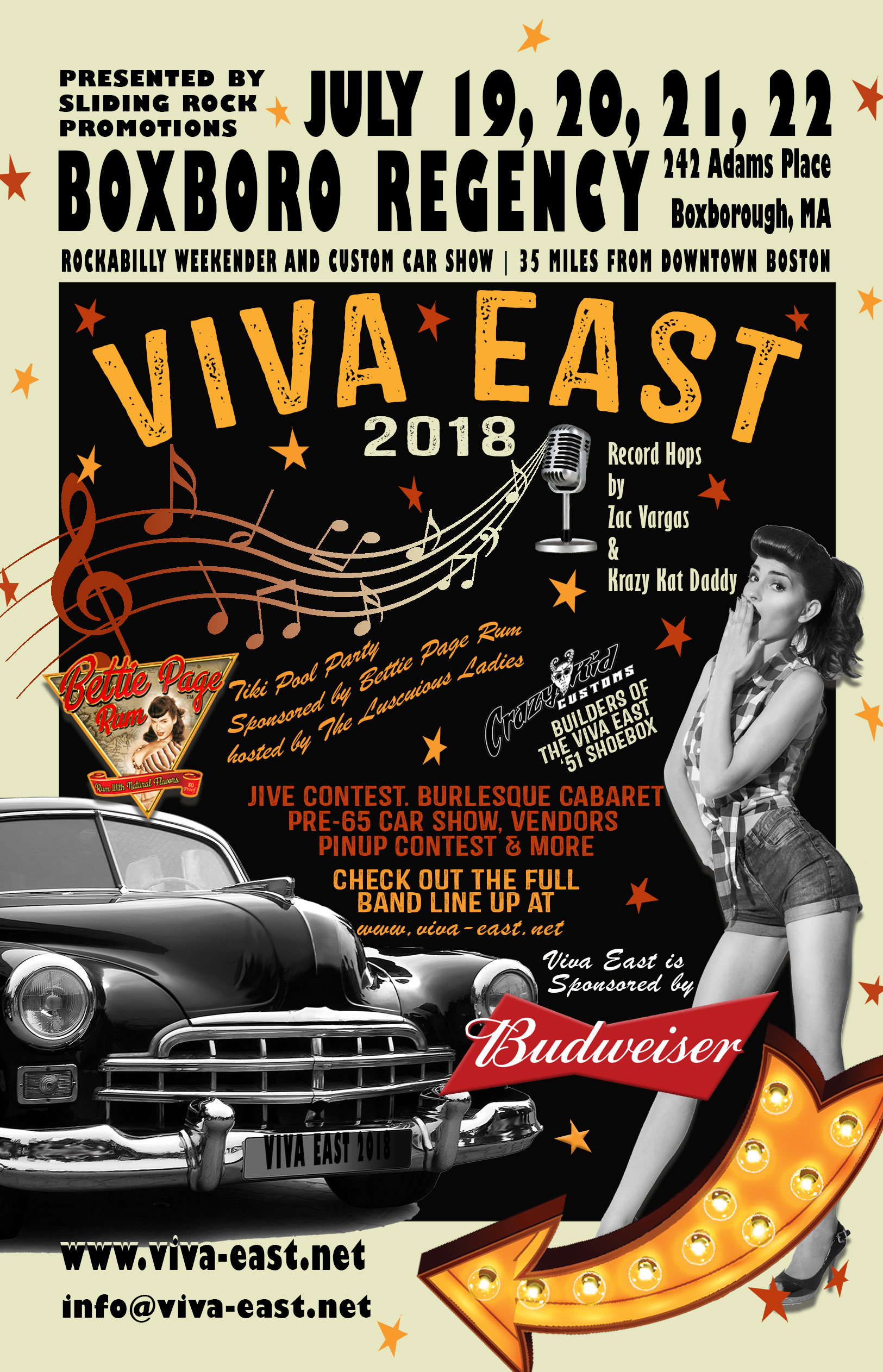 Viva East Rockabilly Weekender and Custom Car Show (MA) - Pinups for ...