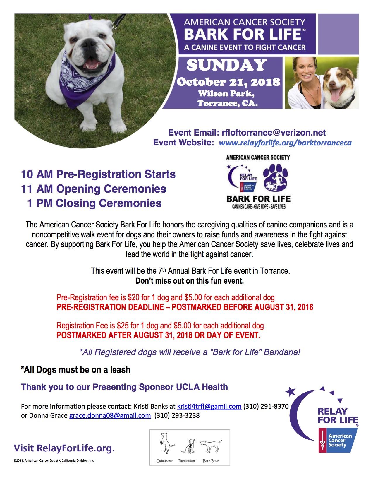 American Cancer Society's Bark for Life Torrance (CA